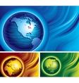 Three globes vector