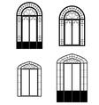Windows and doorwindows vector