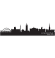 Newcastle england skyline detailed silhouette vector