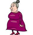 Senior grandmother cartoon vector