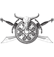 The emblem of the viking vector