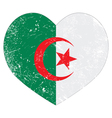 Algeria retro heart shaped flag vector