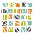 Modern alphabet poster design vector