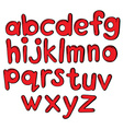 Letters of the alphabet in red color vector