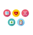 Trendy flat science icons vector