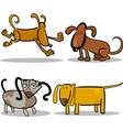 Cute cartoon dogs or puppies set vector