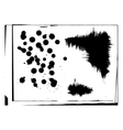 Set of abstract ink hand drawn stains and vector