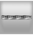 Piano wave keyboard vector