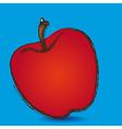 Apple grunge blue background vector