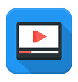 Media play app icon with long shadow vector