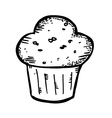 Muffin doodle vector
