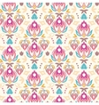 Abstract damask tulips seamless pattern background vector