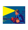 Miner with jack drill vector