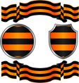 Georgievsky ribbon and shields vector