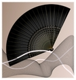 Old black fan vector