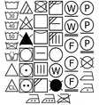 Laundry and care symbols vector