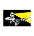 Miner with jack leg drill vector