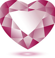 Heart shape gem vector