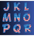 Usa alphabet on a blue background vector