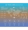 Travel infographic vector