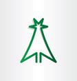 Christmass tree green line icon design vector