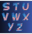 Usa alphabet on a blue background vector