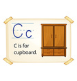 A letter c for cupboard vector