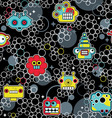 Robot and bubbles vector