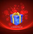 Gift box with magic particles background vector
