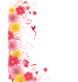 Floral background with red flowers vector