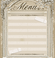 Vintage graphic page for restaurant menu vector