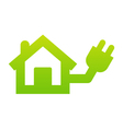 Home electricity icon vector