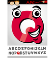 Funny letter q cartoon vector