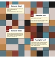 Abstract squares infographic template vector