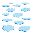 Blue clouds isolated on white background - set vector