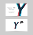 Business card template - letter y vector