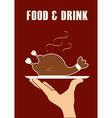 Food design over red background vector