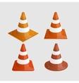 Modern traffic cones icons set vector