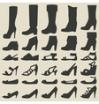 Women shoes set vector