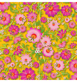 Abstract pink seamless spring floral ornament on vector