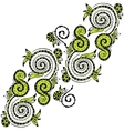 Zentangle hand drawn floral pattern vector
