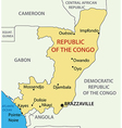 Republic of the congo - map vector