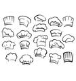 Chef toques and hats set vector