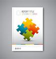 Modern abstract brochure report design template vector
