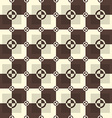 Circle-squares pattern in chocolate and sand vector