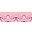Abstract damask flowers horizontal seamless vector