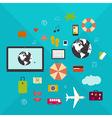 Online travel vector