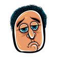 Sad cartoon face vector