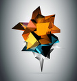 Abstract 3d triangles background vector