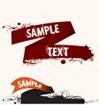 Text frame ribbon vector